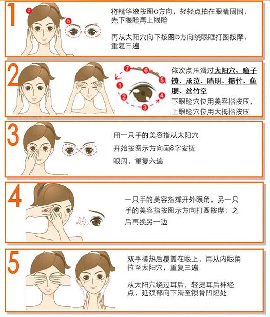 眼部按摩手法 提升眼霜功效