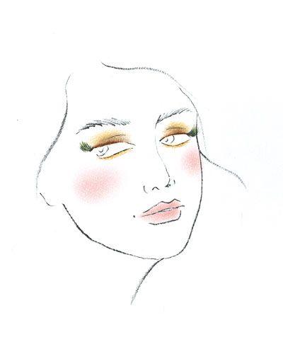 彩妆手绘妆面图